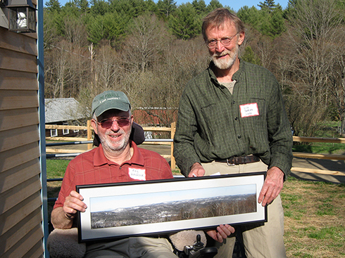 In 2013, Ray Hitchcock was honored as WHPA's Volunteer of the Year and given a picture of Paul's Ledges by Pinnacle Trustee Silos Roberts.