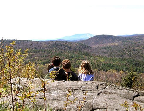 Children at the Ledges