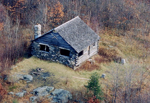 Original cabin at the pinnacle.